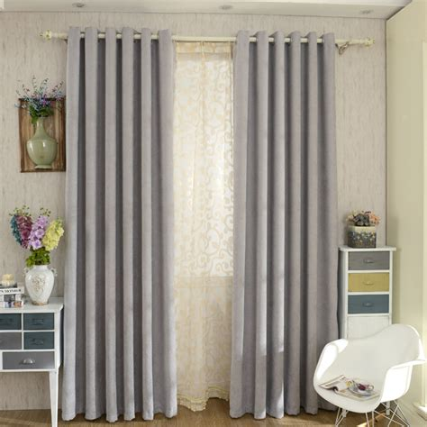 Gray Bedroom Drapes by Modern Chenille Grey Bedroom Curtains Blackout