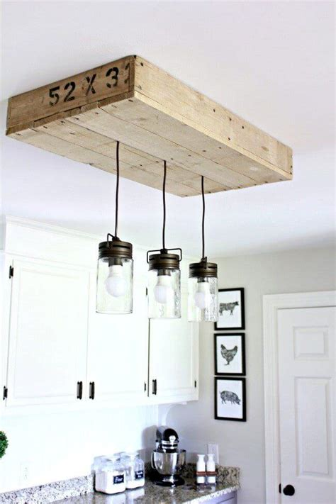 diy kitchen light fixtures 35 best diy farmhouse kitchen decor projects and ideas 6852
