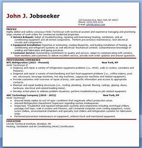 Hvac technician resume sample resume pinterest cv for Hvac resume templates free