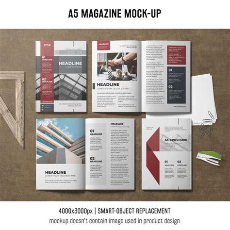 Free Magazine Mockup A5 Magazine Mockup Psd File Free
