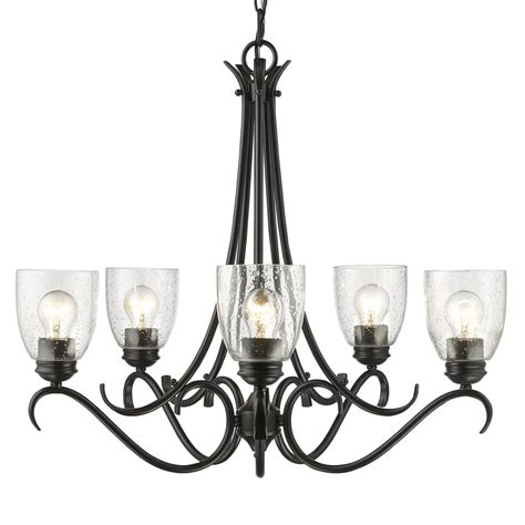 Lighting Chandeliers by Golden Lighting 8001 5 Blk Sd Parrish 5 Light Chandelier