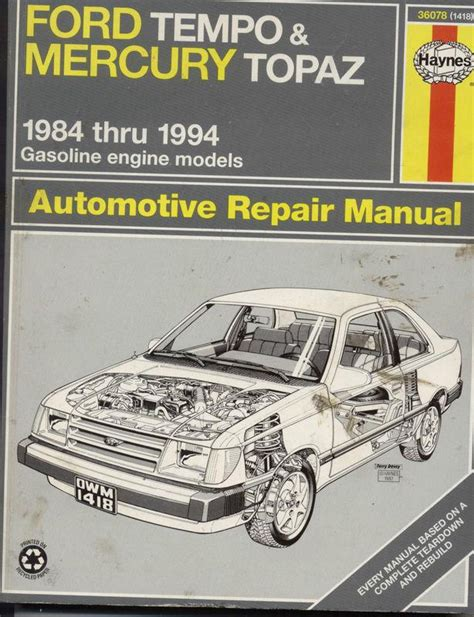 free online auto service manuals 1989 mercury topaz electronic throttle control purchase haynes 1984 1997 ford tempo mercury topaz automotive repair manual motorcycle in