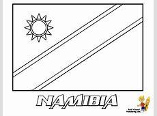 Free Printable of Flag Namibia