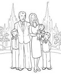 LDS Family Clip Art Coloring Pages