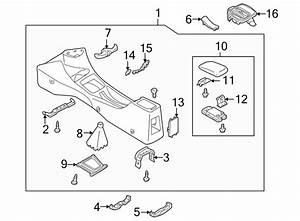 Mazda Protege Console Trim Panel Cap  1999