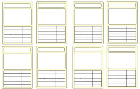 completely blank template  top trumps  gemraroloz