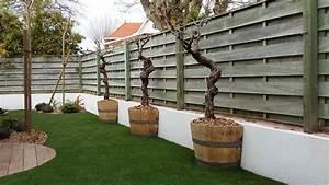 Pose Gazon Synthetique Sur Terre : cr ation d un jardin de ville avec pose d un gazon ~ Dailycaller-alerts.com Idées de Décoration