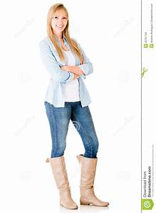 Casual Woman Standing Royalty Free Stock Images - Image ...