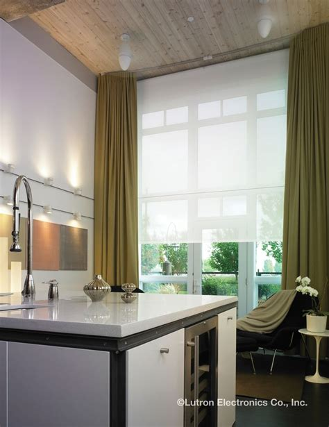Motorized Window Coverings by 40 Best Lutron Shades Images On Sheet Curtains