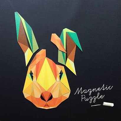 Magnets Groovy Konijn Rabbit Magneetpuzzel Magnetic Kinderkamer