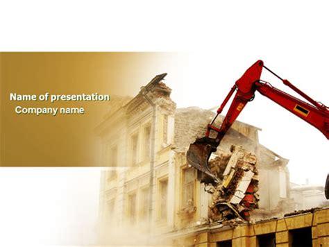 demolition powerpoint template backgrounds