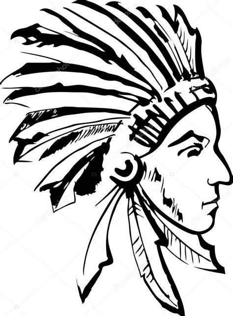 Black and white indian headdress | Indian chief (black and