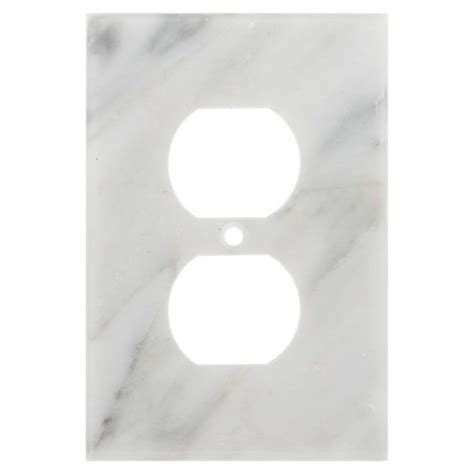 marble outlet covers carrara white marble outlet plate cha cha changes for the kitchen pinterest