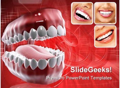 healthy teeth medical powerpoint template