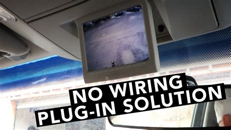 toyota tundra rear view   camera install super