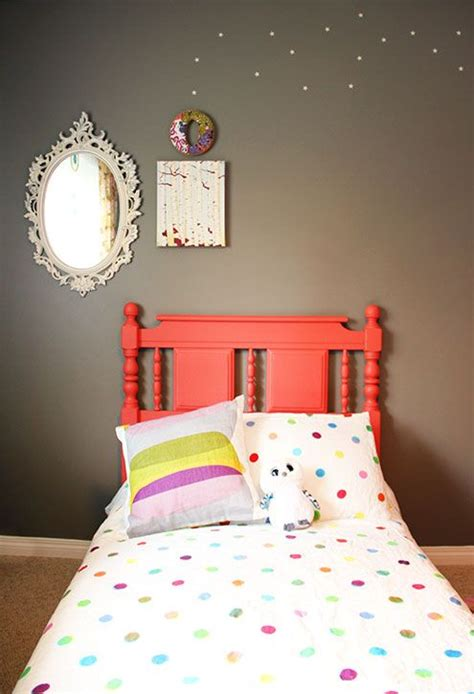 Painted Wood Headboards by Painted Headboard In Coral Color Painted Furniture