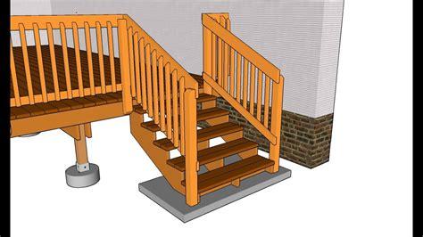 deck stair hand railingdeck stairs handrail build youtube