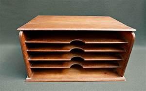 Trieur Papier Bureau : trieur en bois de bureau r ve de brocante ~ Teatrodelosmanantiales.com Idées de Décoration