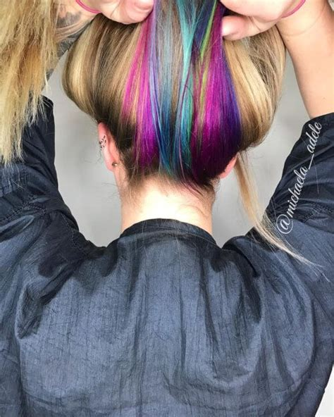 Hidden Unicorn Rainbow Hair Color Cute And Colorful Hair