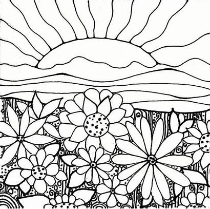 Coloring Pages Garden Flower Printable Sun Flowers