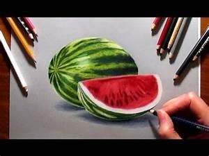 Drawing watermelon with colored pencils | Jasmina Susak ...