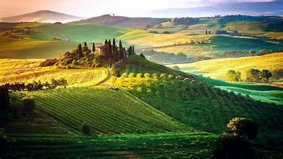 Tuscany Italy Wallpapers Nature Toscany Paddy Cloudy