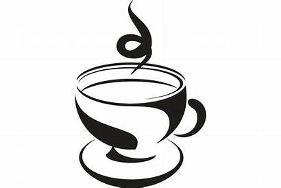 Tea Cup Silhouette Vector Saucer Cups Coffee