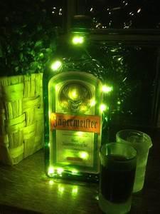 Flasche Mit Lichterkette : 1 liter j germeister flasche mit led beleuchtung von ~ Lizthompson.info Haus und Dekorationen