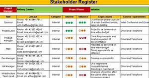 stakeholder register template template With document register software