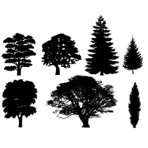 clipart alberi albero sagome vector pack scarica a vectorportal
