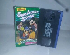 disney sing along songs c out at walt disney world vhs