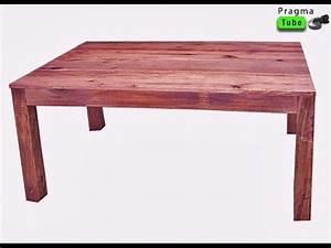 Comment Fabriquer Une Table De Ferme En Bois : bricolage comment fabriquer une table en bois usage multiple youtube ~ Louise-bijoux.com Idées de Décoration