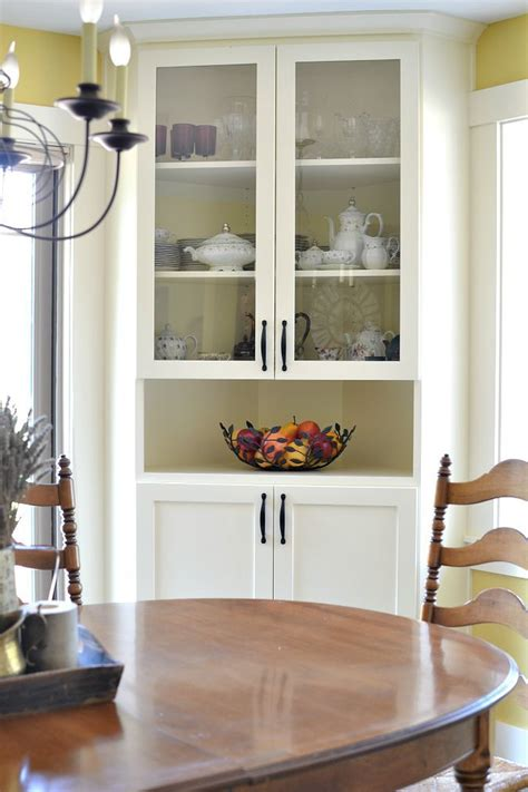 corner china cabinet hutch before and after dining room makeover corner china