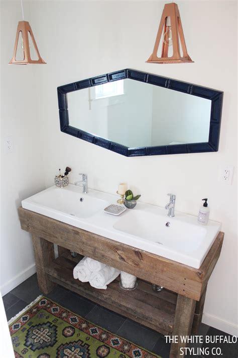 diy rustic bathroom vanity 10 diy light fixtures megan handmade