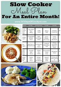 Kitchen Tip Tuesday: Slow Cooker Meal Plan for an Entire ...