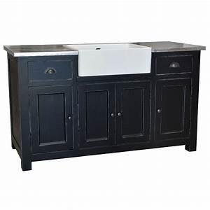 Meuble de cuisine avec evier integre 4 portes et 2 for Plan de travail cuisine avec evier integre