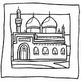 Mosque Islamic Coloring Sheet Ramadan Pages Drawing Sheets Eid Studies Masjid Colouring Islam Worksheet Nabvi Mosques Coloriage Crafts Getdrawings Freecoloringsheets sketch template