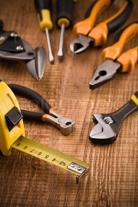 set  building tools stock photo colourbox