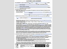 Free California Residential Lease Agreement PDF Word