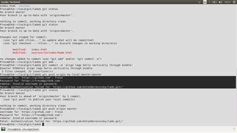 git remote invalid username or password fatal