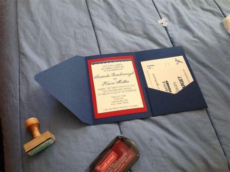 diy wedding invites envelopes from envelopes com then navy print natural linen card