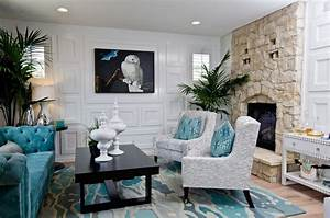 aqua blue and grey living room just decorate!