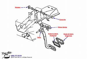1978 Corvette Brake Pedal Parts