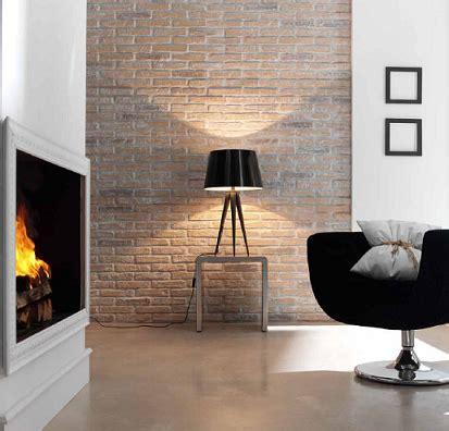 piastrelle finto muro mattoni a vista di colore rosso per decorare casa 20 idee