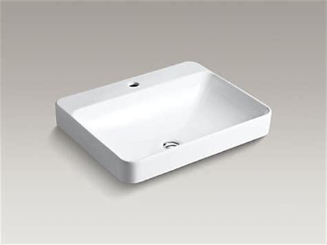 kohler k 2660 1 vox rectangle vessel sink with single
