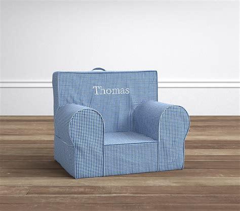 lavender gingham anywhere chair slipcover blue gingham my anywhere chair pottery barn