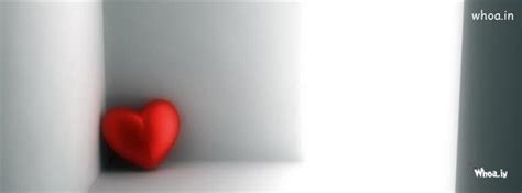 red lonely heart facebook cover