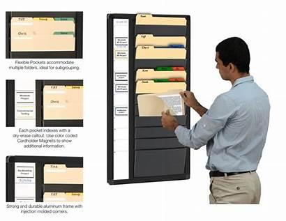 Wall Organizer Folder Organization Magnatag Nrx Folders