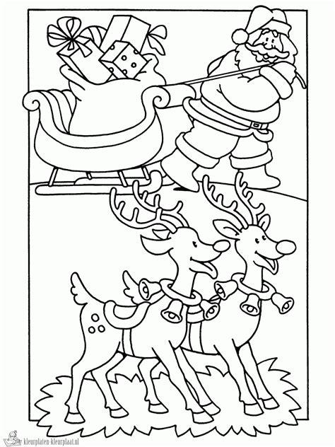 Kerstman Rendier Kleurplaat by Kleurplaten Rendier Kleurplaten Kleurplaat Nl