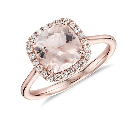 Morganite And Diamond Halo Cushion Ring In 14k Rose Gold. Plywood Rings. Debeer Wedding Rings. Ridiculously Wedding Rings. Disney Rings. Stoneless Engagement Rings. Bull Rings. Poetic Rings. Circular Wedding Rings